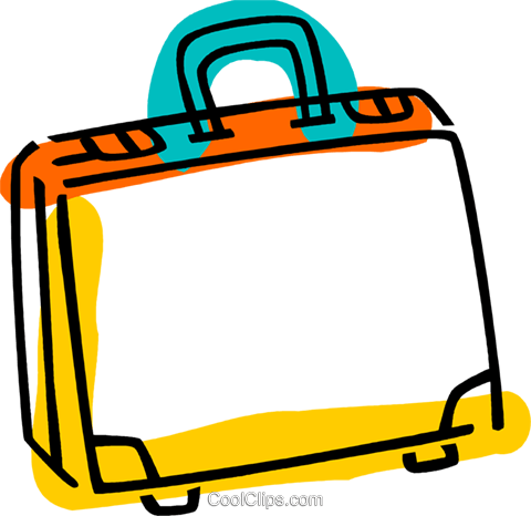 Briefcases Royalty Free Vector Clip Art illustration vc077360