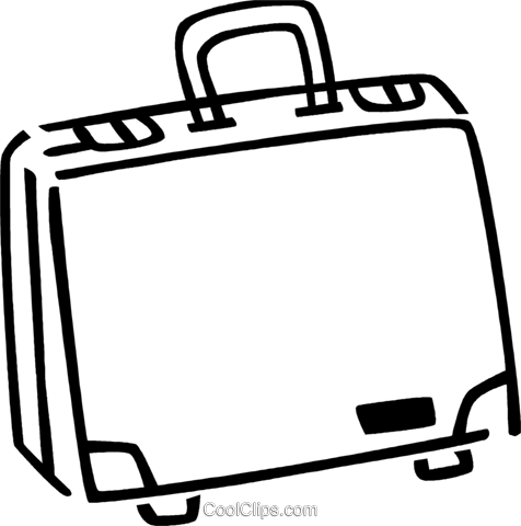 Briefcases Royalty Free Vector Clip Art illustration vc077361
