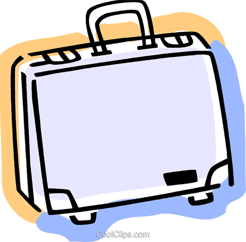 Briefcases Royalty Free Vector Clip Art illustration vc077362