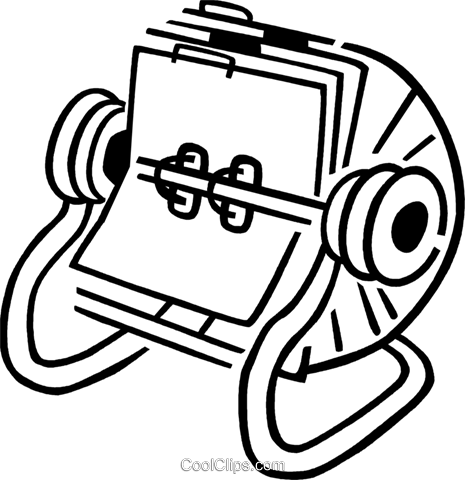 Rolodex Royalty Free Vector Clip Art illustration vc077365