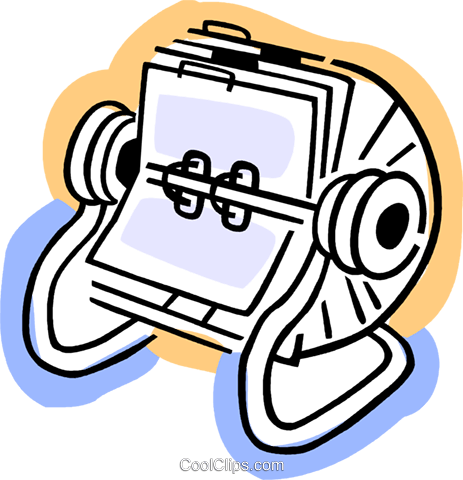 Rolodex Royalty Free Vector Clip Art illustration vc077366