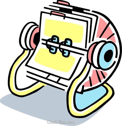 Rolodex Royalty Free Vector Clip Art illustration vc077367