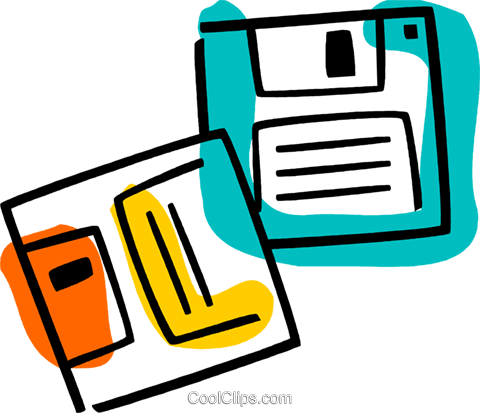 Diskettes Floppy Disks Royalty Free Vector Clip Art illustration vc077372