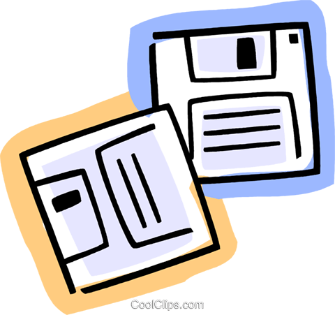 Diskettes Floppy Disks Royalty Free Vector Clip Art illustration vc077374