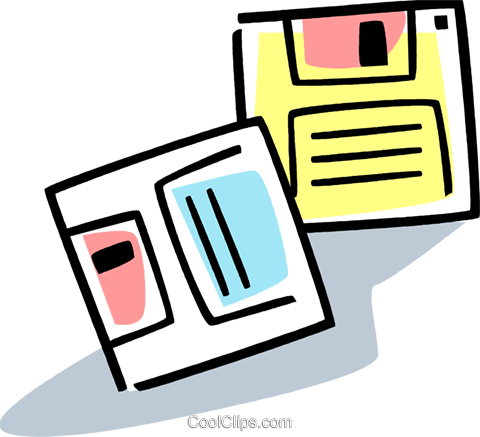 Diskettes Floppy Disks Royalty Free Vector Clip Art illustration vc077375