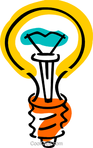 Light bulbs Royalty Free Vector Clip Art illustration vc077376