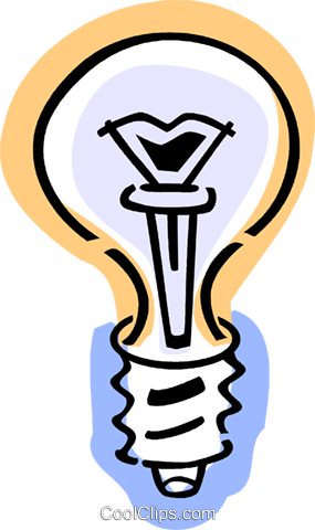 Light bulbs Royalty Free Vector Clip Art illustration vc077378