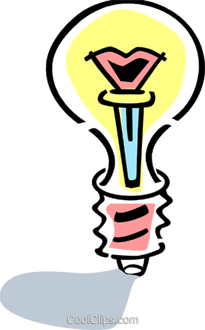 Light bulbs Royalty Free Vector Clip Art illustration vc077379