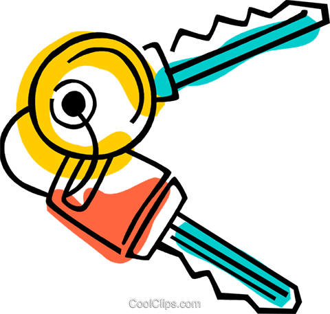 Keys and Locks Royalty Free Vector Clip Art illustration vc077388