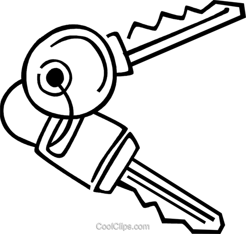 Keys and Locks Royalty Free Vector Clip Art illustration vc077389