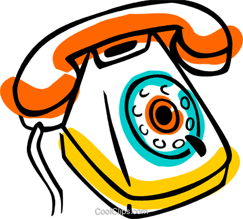 Home Phones Royalty Free Vector Clip Art illustration vc077396