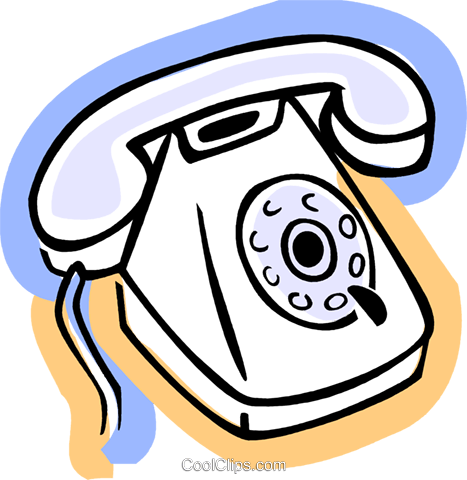 Home Phones Royalty Free Vector Clip Art illustration vc077398