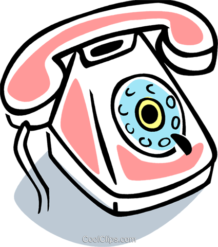 Home Phones Royalty Free Vector Clip Art illustration vc077399