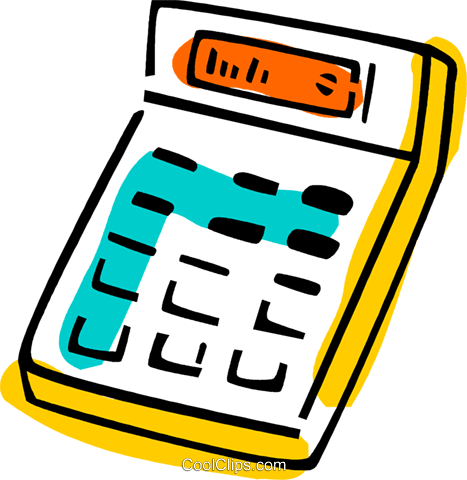 Calculators Royalty Free Vector Clip Art illustration vc077400