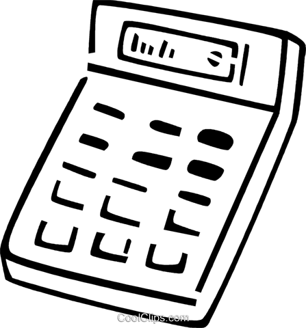 Calculators Royalty Free Vector Clip Art illustration vc077401