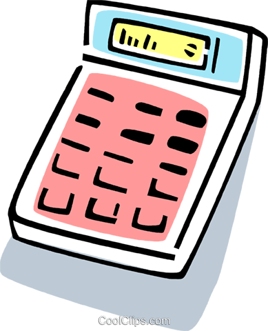 Calculators Royalty Free Vector Clip Art illustration vc077403