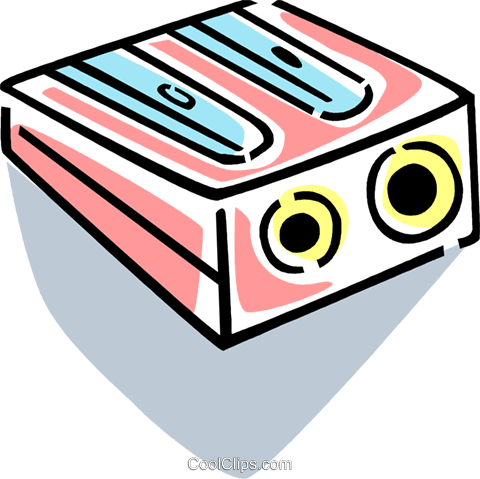 Pencil Sharpeners Royalty Free Vector Clip Art illustration vc077407