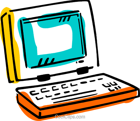 Laptops and Notebook Computers Royalty Free Vector Clip Art illustration vc077408