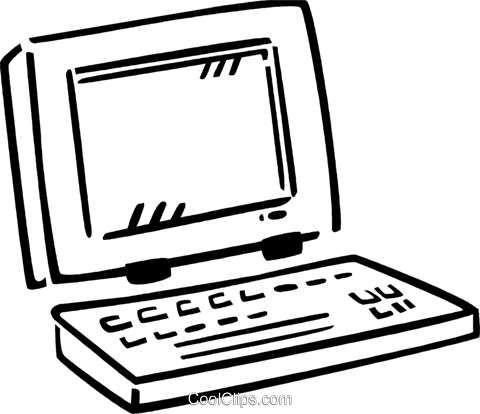 Laptops and Notebook Computers Royalty Free Vector Clip Art illustration vc077409