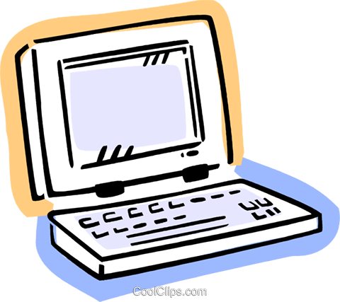 Laptops and Notebook Computers Royalty Free Vector Clip Art illustration vc077410