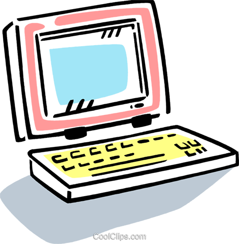 Laptops and Notebook Computers Royalty Free Vector Clip Art illustration vc077411
