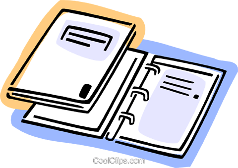 3-Ring Binders Royalty Free Vector Clip Art illustration vc077426