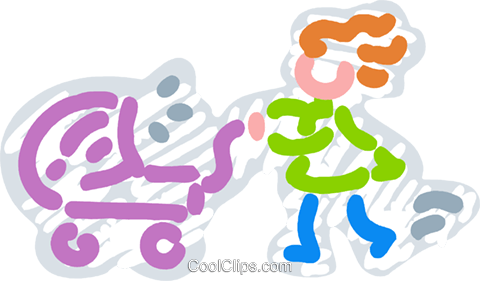 Strollers and Carriages Royalty Free Vector Clip Art illustration vc077447