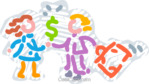 Financial Concepts Royalty Free Vector Clip Art illustration vc077475