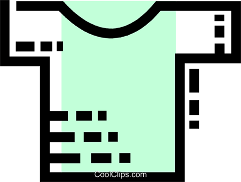 Shirts Royalty Free Vector Clip Art illustration vc077532