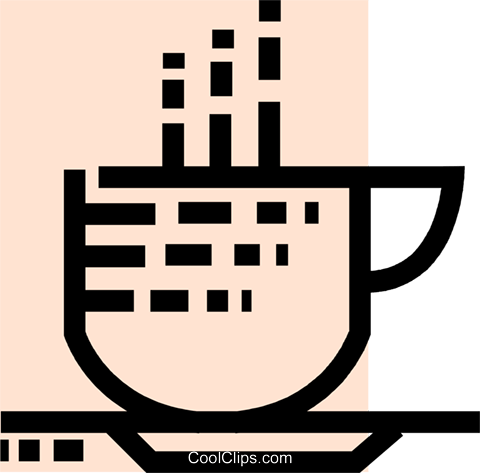 Cups of Coffee Royalty Free Vector Clip Art illustration vc077542