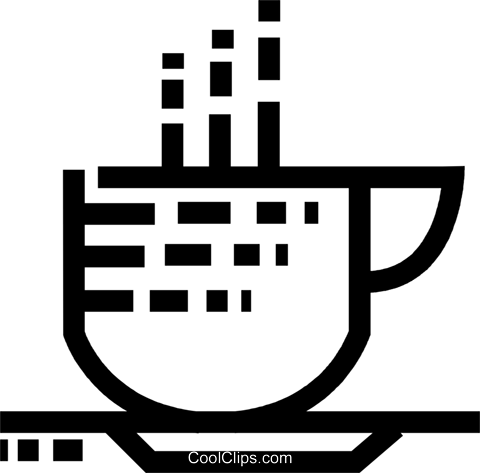 Cups of Coffee Royalty Free Vector Clip Art illustration vc077543