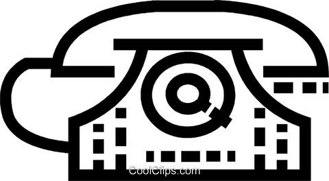 Home Phones Royalty Free Vector Clip Art illustration vc077578