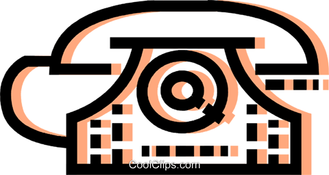 Home Phones Royalty Free Vector Clip Art illustration vc077579