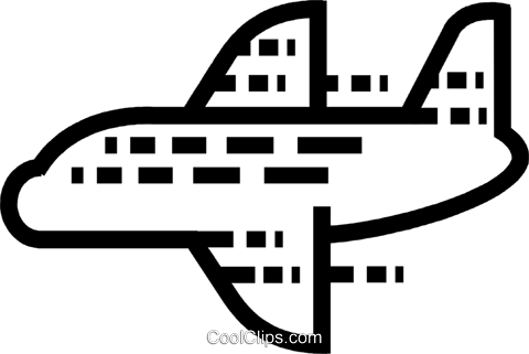 Commercial Jets Royalty Free Vector Clip Art illustration vc077608
