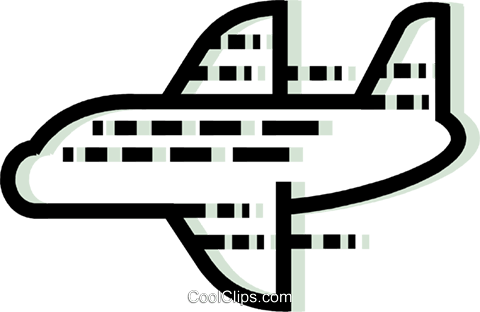 Commercial Jets Royalty Free Vector Clip Art illustration vc077609