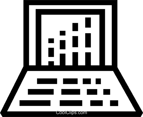 Laptops and Notebook Computers Royalty Free Vector Clip Art illustration vc077618