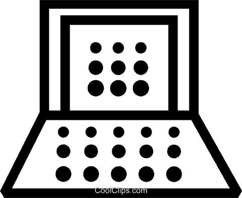 Laptops and Notebook Computers Royalty Free Vector Clip Art illustration vc077621