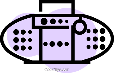 Portable Cassette Players Royalty Free Vector Clip Art illustration vc077645