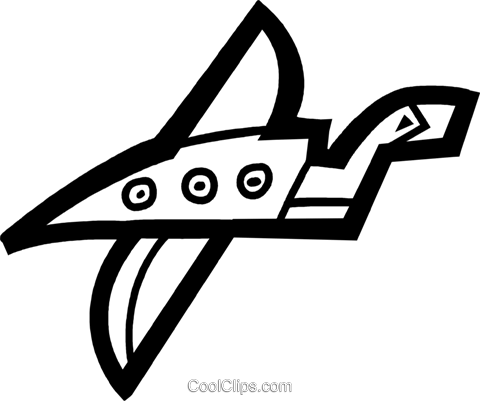 Commercial Jets Royalty Free Vector Clip Art illustration vc077677