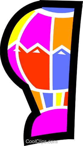 Hot Air Balloons Royalty Free Vector Clip Art illustration vc077686