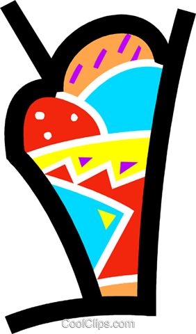 Ice Cream and Frozen Treats Royalty Free Vector Clip Art illustration vc077698