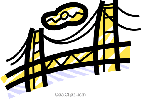Golden Gate Bridge Royalty Free Vector Clip Art illustration vc077732