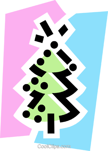 Christmas Trees Royalty Free Vector Clip Art illustration vc077752