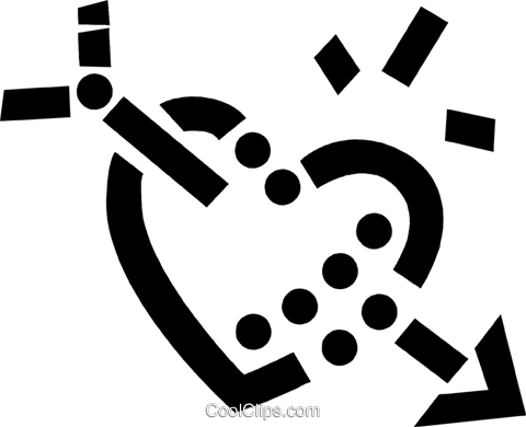 Hearts Royalty Free Vector Clip Art illustration vc077781