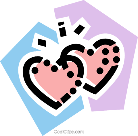 Hearts Royalty Free Vector Clip Art illustration vc077796