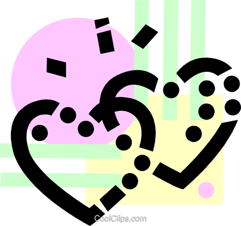 Hearts Royalty Free Vector Clip Art illustration vc077798