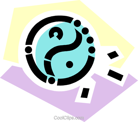 Yin & Yang Royalty Free Vector Clip Art illustration vc077840