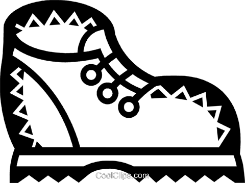 Hiking Boots Royalty Free Vector Clip Art illustration vc077845