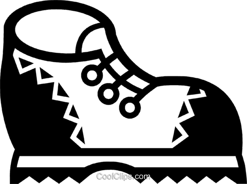 Hiking Boots Royalty Free Vector Clip Art illustration vc077846