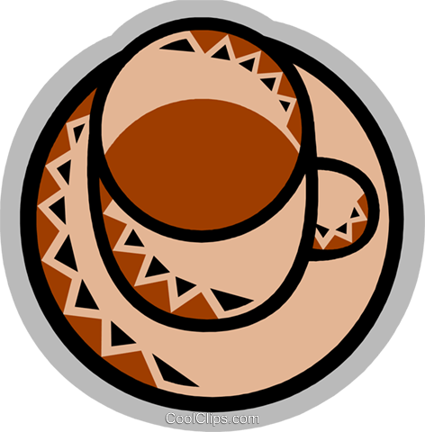 Cups of Coffee Royalty Free Vector Clip Art illustration vc077859